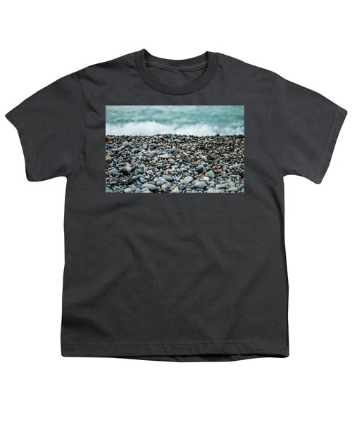Youth T-Shirt featuring the photograph Beach Pebbles by MGL Meiklejohn Graphics Licensing