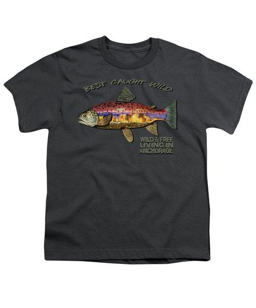 Fishing - Best Caught Wild-on Dark Youth T-Shirt