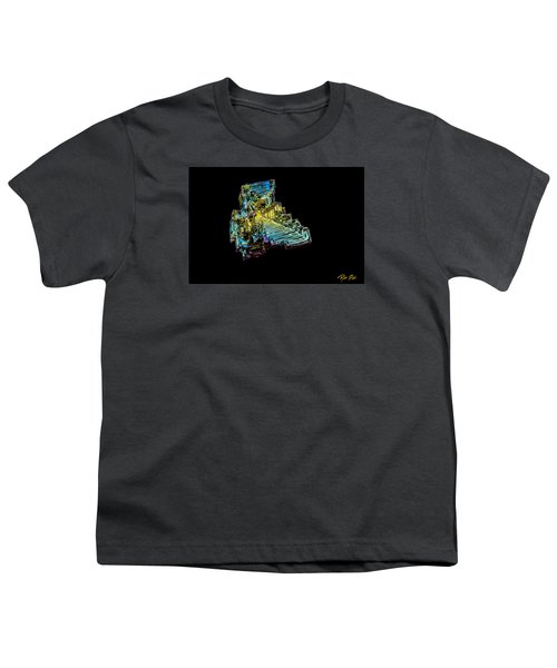 Youth T-Shirt featuring the photograph Bismuth Crystal by Rikk Flohr