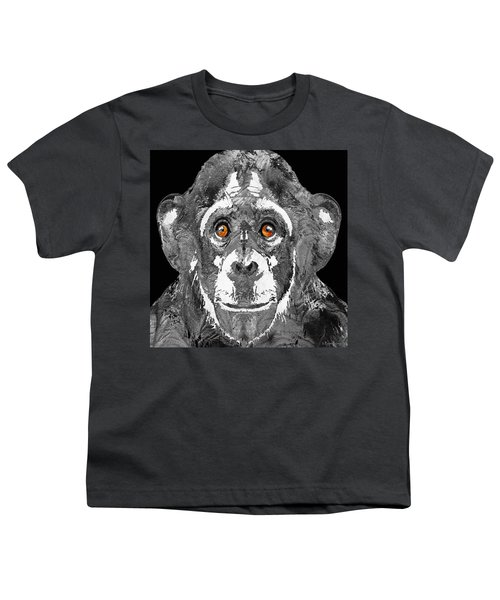 Black And White Art - Monkey Business 2 - By Sharon Cummings Youth T-Shirt