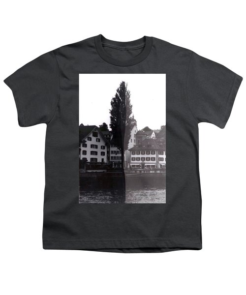 Black Lucerne Youth T-Shirt by Christian Eberli