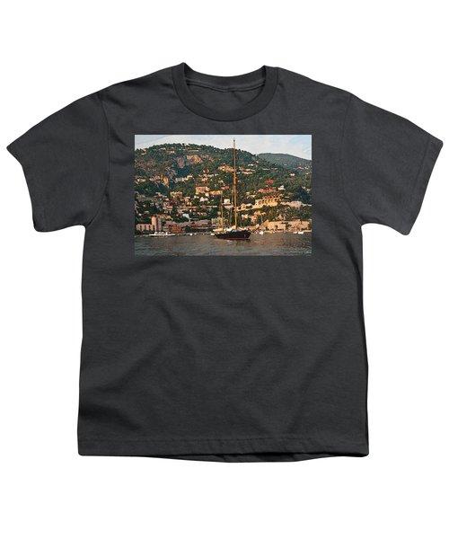 Black Sailboat At Villefranche II Youth T-Shirt