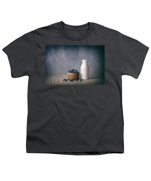 Blueberries And Cream Youth T-Shirt by Tom Mc Nemar