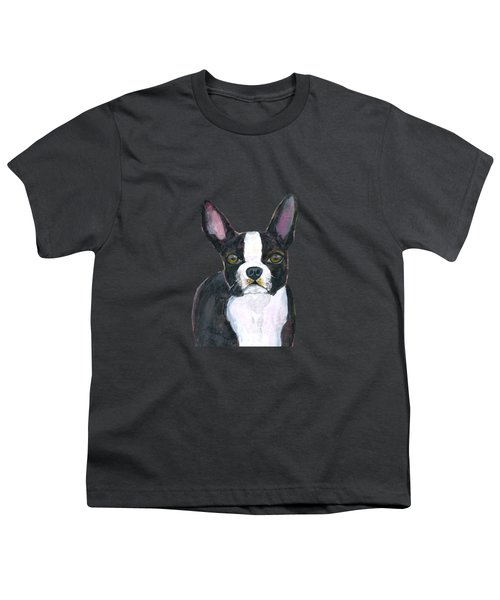 Boston Terrier Dog Youth T-Shirt