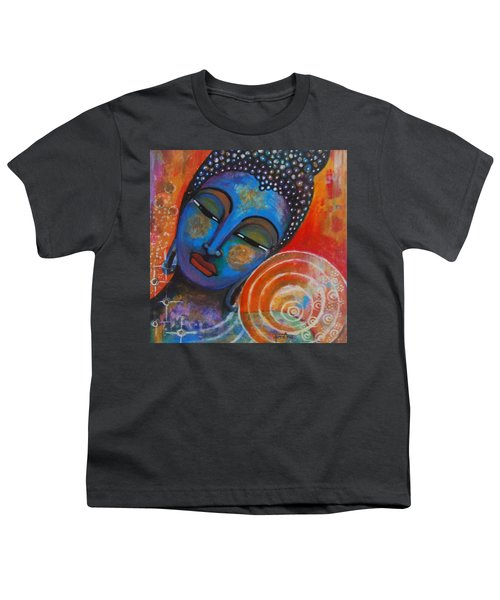 Youth T-Shirt featuring the painting Buddha by Prerna Poojara
