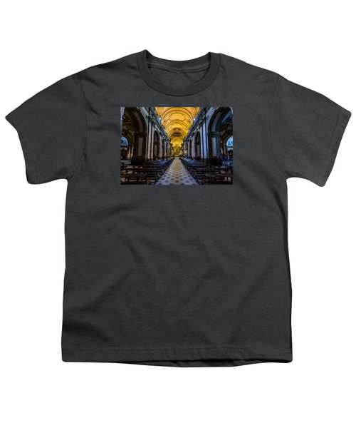 Buenos Aires Metropolitan Cathedral Youth T-Shirt by Randy Scherkenbach