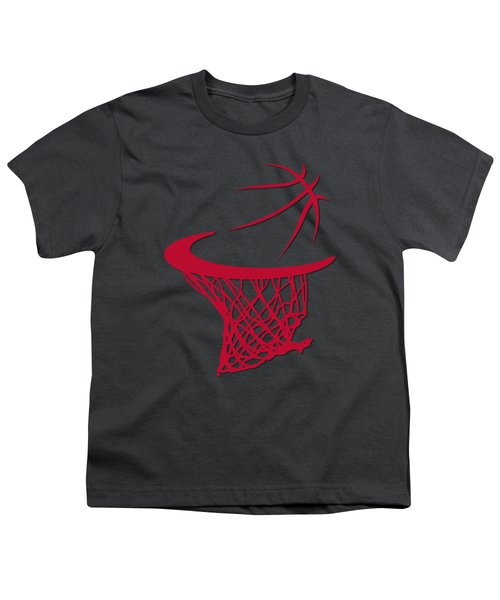 Bulls Basketball Hoop Youth T-Shirt by Joe Hamilton