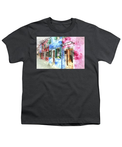 Burano Italy Buildings Youth T-Shirt