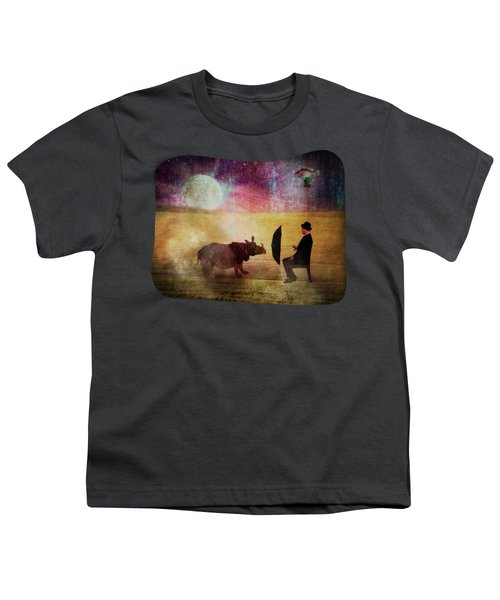 By The Light Of The Moon Youth T-Shirt by Terry Fleckney