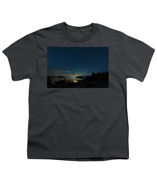 Youth T-Shirt featuring the photograph Campfire 1 by Jim Thompson