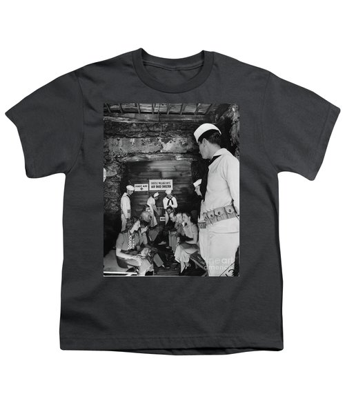 Castle Village Air Raid Shelter Youth T-Shirt by Cole Thompson