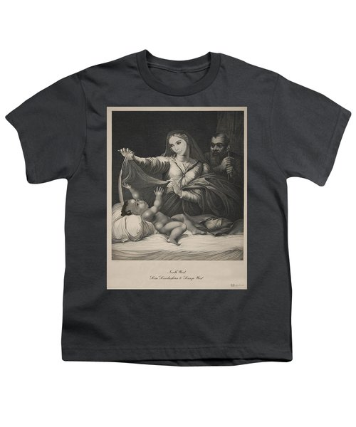 Celebrity Etchings - North Kim And Kanye Youth T-Shirt