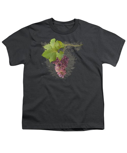 Chateau Pinot Noir Vineyards - Vintage Style Youth T-Shirt by Audrey Jeanne Roberts