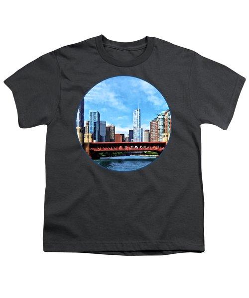 Chicago Il - Lake Shore Drive Bridge Youth T-Shirt by Susan Savad