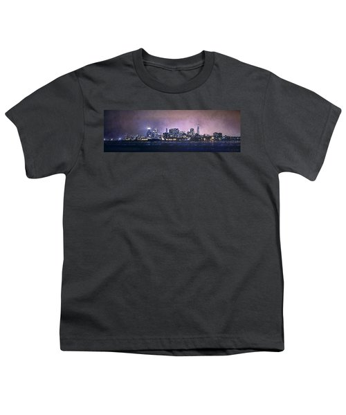 Chicago Skyline From Evanston Youth T-Shirt by Scott Norris
