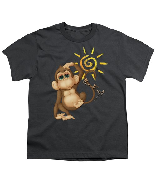 Chimpanzees, Mother And Baby Youth T-Shirt by Maria Astedt