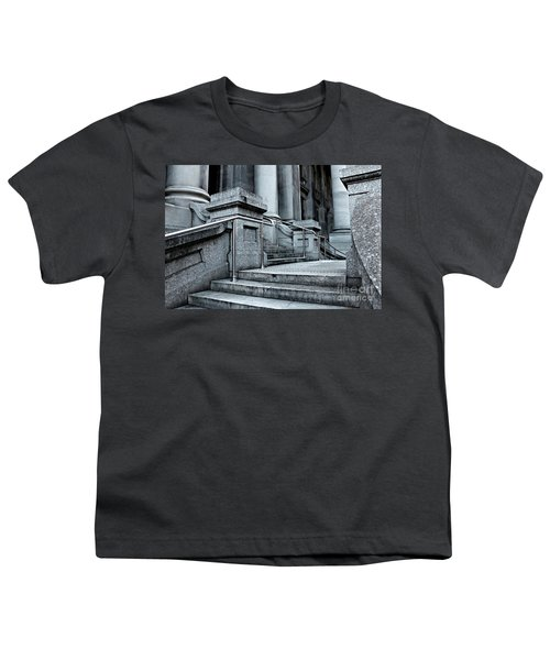 Youth T-Shirt featuring the photograph Chrome Balustrade by Stephen Mitchell