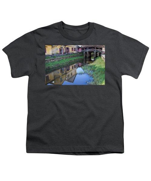Youth T-Shirt featuring the photograph Chua Cau Reflection by Hitendra SINKAR