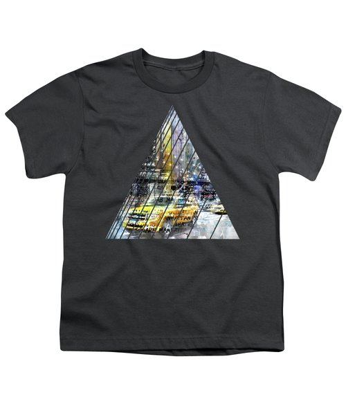 City-art Nyc Collage Youth T-Shirt by Melanie Viola