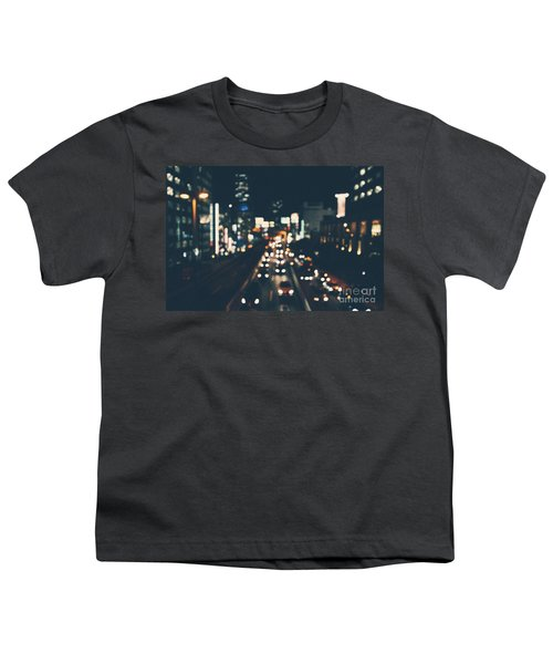 Youth T-Shirt featuring the photograph City Lights by MGL Meiklejohn Graphics Licensing