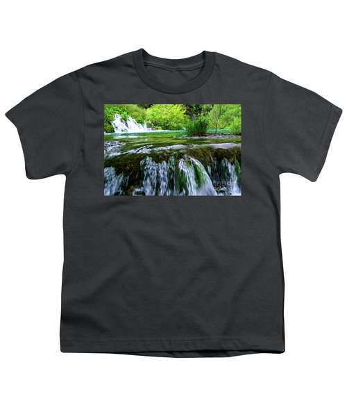 Close Up Waterfalls - Plitvice Lakes National Park, Croatia Youth T-Shirt