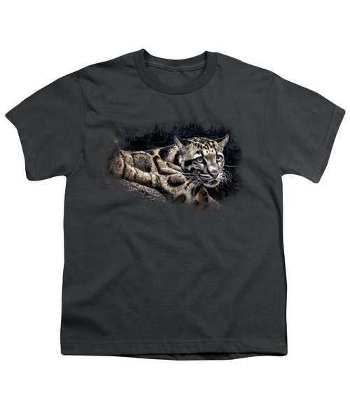 Leopard Youth T-Shirt by David Millenheft