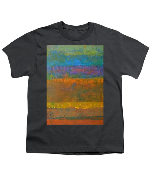Color Collage One Youth T-Shirt by Michelle Calkins