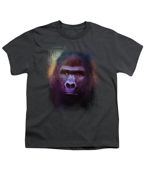 Colorful Expressions Gorilla Youth T-Shirt by Jai Johnson