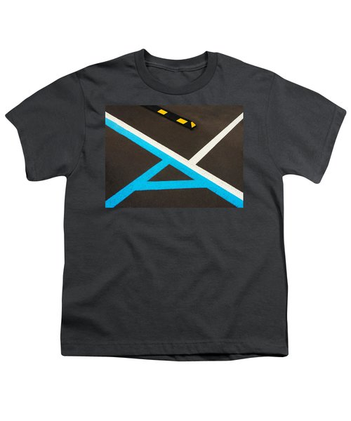 Colorful Geometry In The Parking Lot Youth T-Shirt
