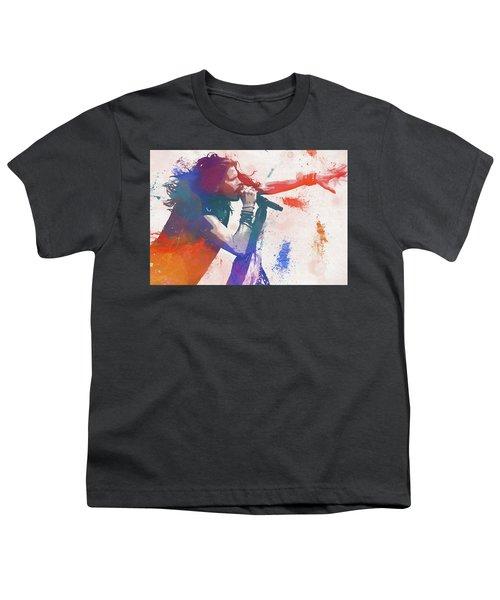 Colorful Steven Tyler Paint Splatter Youth T-Shirt