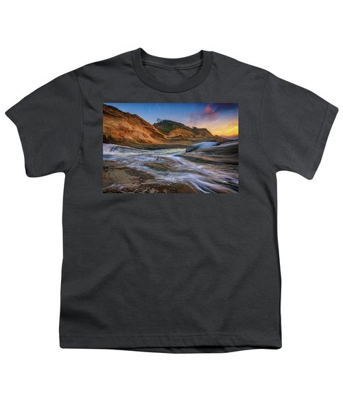 Cove At Cape Kiwanda, Oregon Youth T-Shirt