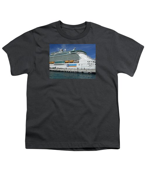 Cruise Ship Youth T-Shirt by Kathleen Peck