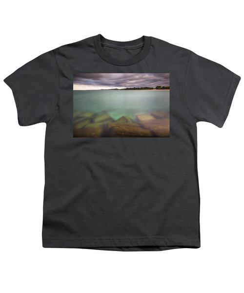 Youth T-Shirt featuring the photograph Crystal Clear Lake Michigan Waters by Adam Romanowicz