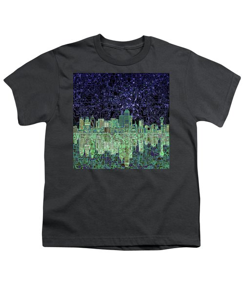 Dallas Skyline Abstract 4 Youth T-Shirt
