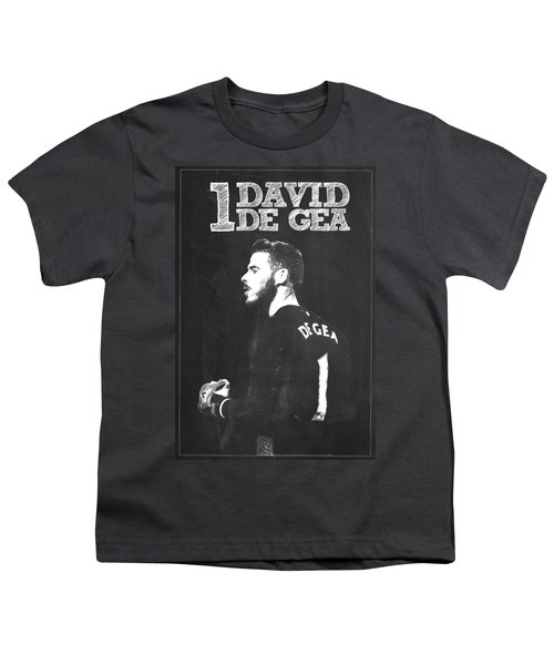 David De Gea Youth T-Shirt by Semih Yurdabak