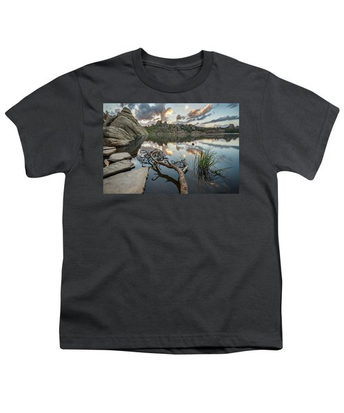 Youth T-Shirt featuring the photograph Dawn At Sylvan Lake by Adam Romanowicz