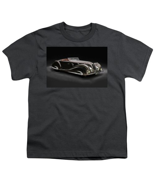 Youth T-Shirt featuring the digital art Delahaye 1930's Art In Motion by Marvin Blaine