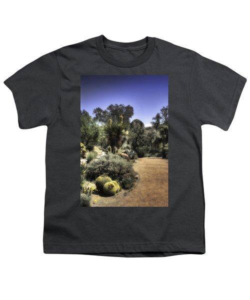 Desert Walkway Youth T-Shirt by Lynn Geoffroy