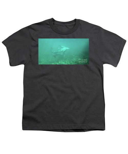 Youth T-Shirt featuring the photograph Dolphin Swim by Francesca Mackenney