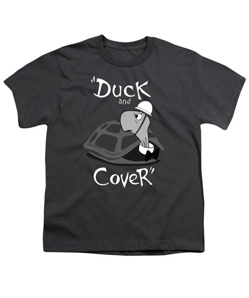 Duck And Cover - Vintage Nuclear Attack Poster Youth T-Shirt