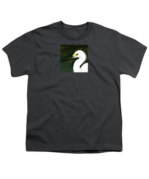 Egret Youth T-Shirt by Beth Klock