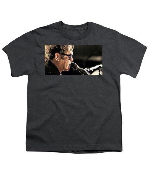Elton John At The Mic Youth T-Shirt