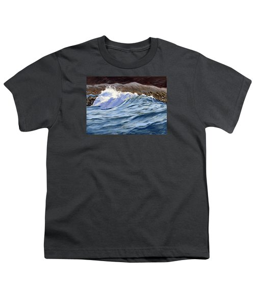 Youth T-Shirt featuring the painting Fat Wave by Lawrence Dyer