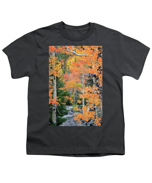 Youth T-Shirt featuring the photograph Flaming Forest by David Chandler