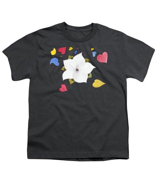Fleur Et Coeurs Youth T-Shirt