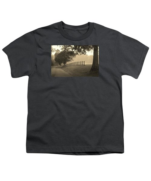 Foggy Fence Line Youth T-Shirt