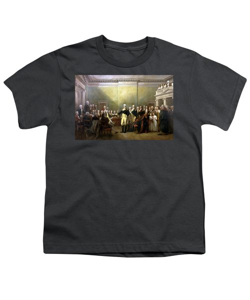 General Washington Resigning His Commission Youth T-Shirt by War Is Hell Store