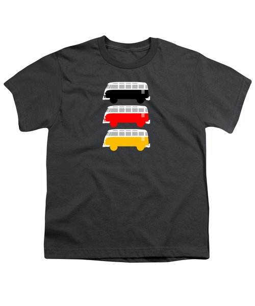 German Icon - Vw T1 Samba Youth T-Shirt by Mark Rogan