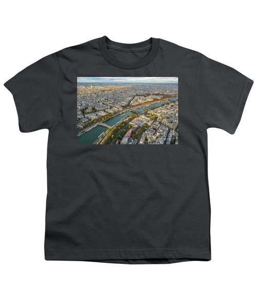 Golden Light Along The Seine Youth T-Shirt by Mike Reid