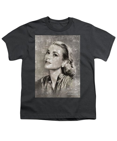 Grace Kelly By Mary Bassett Youth T-Shirt